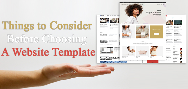 10 Things to Consider Before Choosing A Website Template