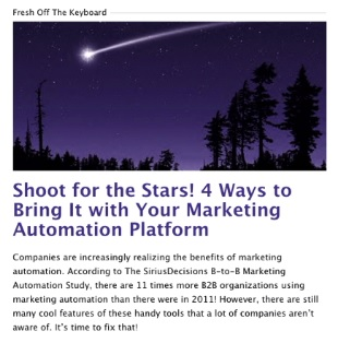 Shoot for the Stars! 4 ways to Bring It with Your Marketing Automation Platform